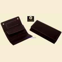 Ben Wade High Quality Black Leather Roll Up Button Rolling Tobacco Pouch p302