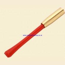 9cm Slim Ejector Red/Gilt Cigarette Holder