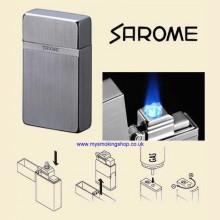 Sarome KSCW1-01 Light Grey Hairline Triple Jet Flame Cigarette Lighter