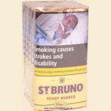 St Bruno Ready Rubbed Pipe Tobacco 5 x 50g Pouches