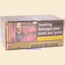 Gold Block Ready Rubbed Pipe Tobacco 5 x 40g Pouches