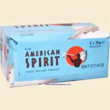 American Spirit BLUE (Additive Free) Hand Rolling Tobacco 5 x 30g Pouches