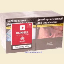 Dunhill International 10 Packs of 20 Cigarettes