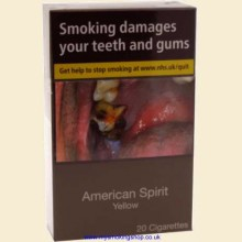 American Spirit YELLOW (Additive Free) 1 Pack of 20 Cigarettes