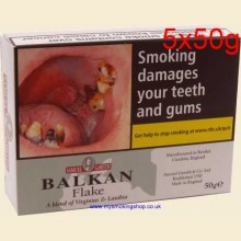 Samuel Gawith Balkan Flake Pipe Tobacco 5 x 50g Tins