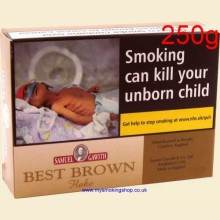 Samuel Gawith Best Brown Flake Pipe Tobacco 250g Box