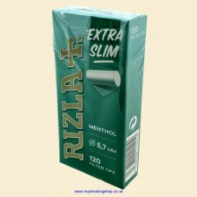 Rizla MENTHOL Extra Slim Filter Tips 1 Pack of 120