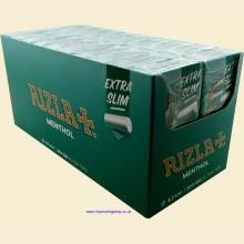 Rizla MENTHOL Extra Slim Filter Tips 20 Packs of 120