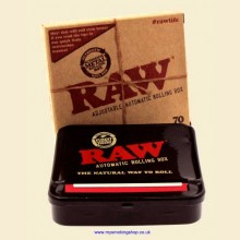RAW Automatic 70mm Black Metal Adjustable Regular Rolling Machine Box