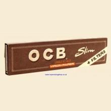 OCB Virgin Slim King Size Rolling Papers + Filters 1 Pack