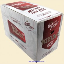 Rizla Regular Red 70mm Rolling Papers Box of 100 Packs