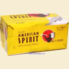 American Spirit YELLOW (Additive Free) Hand Rolling Tobacco 5 x 30g Pouches