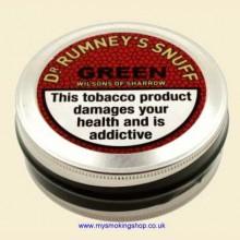 Dr Rumneys Green Snuff by Wilsons of Sharrow 20g Large Tin